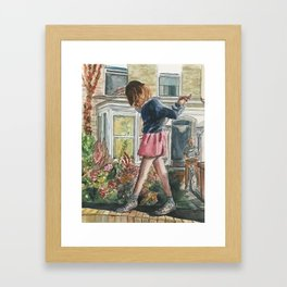 Walking on the Edge Framed Art Print