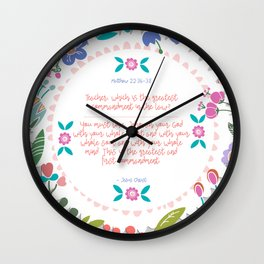 The Greatest Commandment Wall Clock