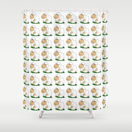 Sheep With Lamb Shower Curtain