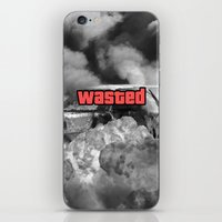gta iPhone & iPod Skins featuring Wasted GTA by JOlorful