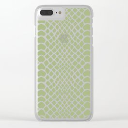 Snake Skin Pattern Clear iPhone Case