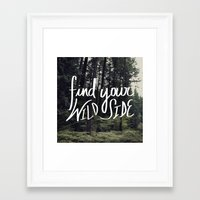 into the wild Framed Art Prints featuring Wild by Leah Flores