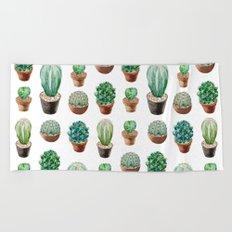 Cactus Watercolor Beach Towel