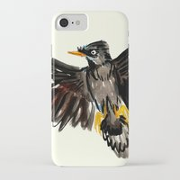 singapore iPhone & iPod Cases featuring Singapore Bird by June Chang Studio