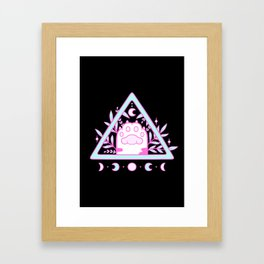 Witchy Cat Paw // Black Framed Art Print