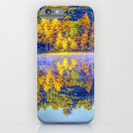 Walden Pond Autumn Time Concord Massachusetts Panorama  Reflection iPhone Case