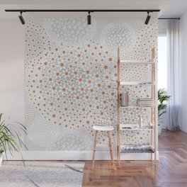 Floral snowflakes Wall Mural