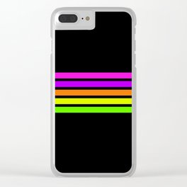Rainbow Stripes V Clear iPhone Case