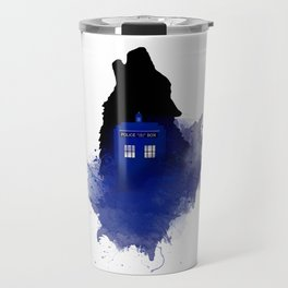 Dr.Who, Art, Design, Dr. Who Art, BadWolf, Bad Wolf Travel Mug