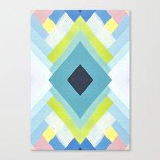 geometric color paint Canvas Print