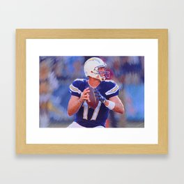 Philip Rivers - Chargers - #17 Framed Art Print