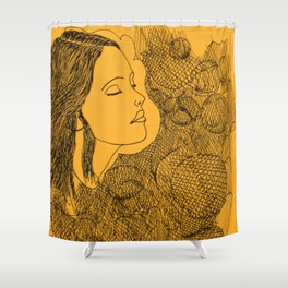 Face one Shower Curtain