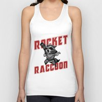 rocket raccoon Tank Tops featuring The Raccoon by Twinky Wood