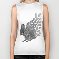squirrel Biker Tanks featuring Squirrel by Julia Kisselmann