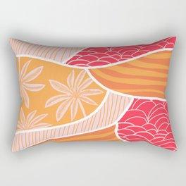 kauai, orange Rectangular Pillow