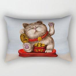 Maneki-neko Beckoning cat Rectangular Pillow