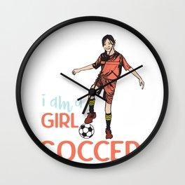 Soccergirl Wall Clock