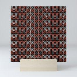 Coral , black , ornament , horoscope Mini Art Print