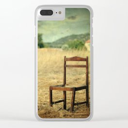 La chaise Clear iPhone Case