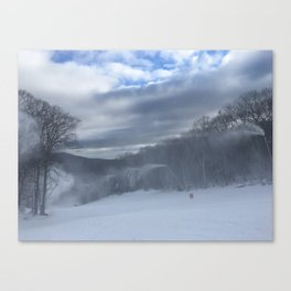 Making snow Canvas Print