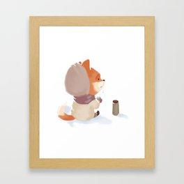 Winter Fox Drink Framed Art Print