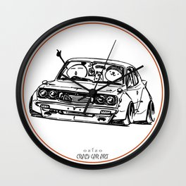 Crazy Car Art 0006 Wall Clock