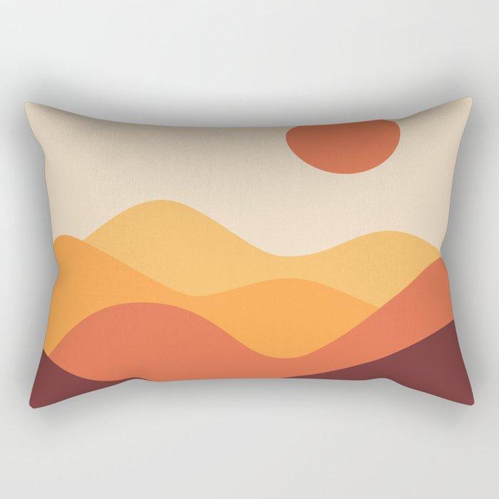 Geometric Landscape 21 Rectangular Pillow