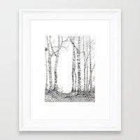 birch Framed Art Prints featuring Birch by Yvonne Jansen