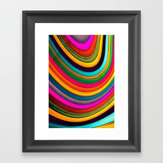More Curve Framed Art Print