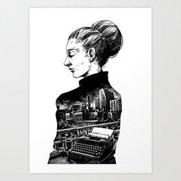 Maeve Brennan by Szabolcs Art Print
