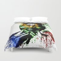 mandela Duvet Covers featuring Nelson Mandela by D77 The DigArtisT