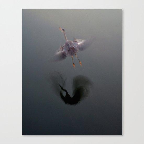 Blue Heron Abstract Canvas Print
