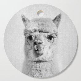 Alpaca - Black & White Cutting Board
