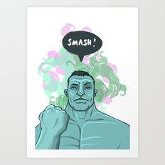 SMASH! Hulk Art Print