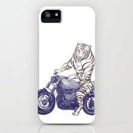 Tiger on a Motorcycle iPhone Case