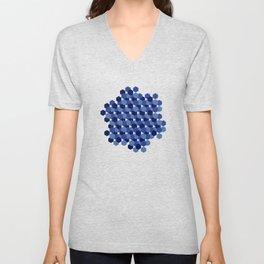 Hexagons Unisex V-Neck