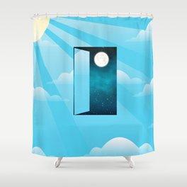 Knocking on heaven's door Shower Curtain