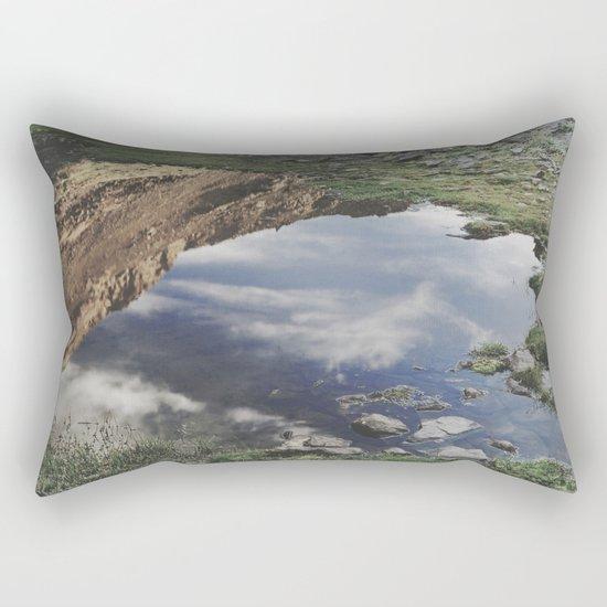 Dream Lake at the mountains. Retro Rectangular Pillow