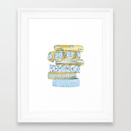 Golden Rings Framed Art Print