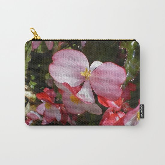 Begonia in the Rose Garden Carry-All Pouch