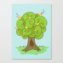 The Music Tree Canvas Print