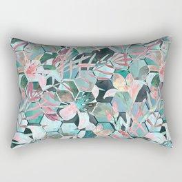 Floral, geometric abstraction Rectangular Pillow