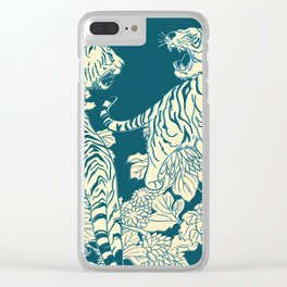 floral tigers Clear iPhone Case