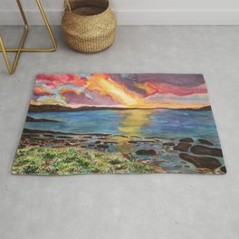 Sunset over the Sea Rug