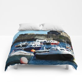 Boats in the Harbour Comforters