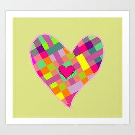 colorful heart Art Print