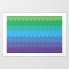 Waves 1 Art Print