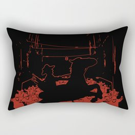 Zombie Crossing Rectangular Pillow