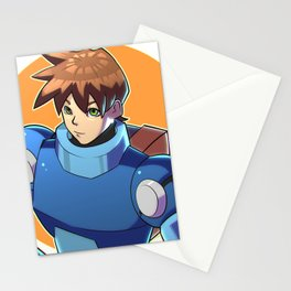 Blue Armor Boy Stationery Cards