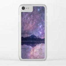 Space and time Clear iPhone Case